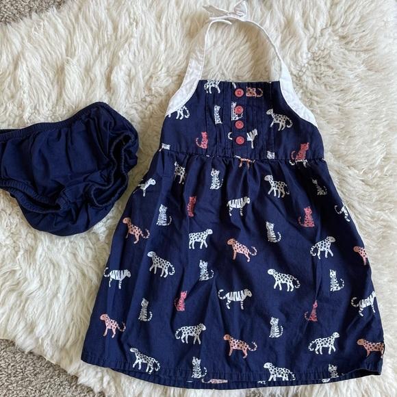 Gymboree Baby Girls Halter Animal Dress 12-18mo